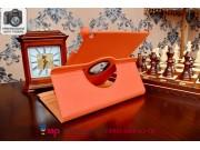 Чехол для iPad Air 1 поворотный роторный оборотный оранжевый кожаный..
