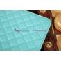 Сгёганая кожа в ромбик с узором чехол для iPad Air 1 бирюзовый..