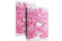 """Уникальный чехол-книжка с объёмным рисунком для iPad 2/3/4 """"тематика Носик котика в цветах"""" розовый"""