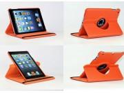 Чехол для iPad Mini 2 retina/iPad Mini 3 поворотный роторный оборотный оранжевый кожаный..