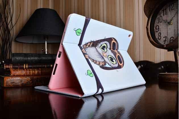 Фирменный уникальный необычный чехол-книжка для iPad Pro 10.5  тематика Совенок