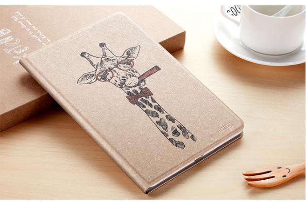 Фирменный уникальный необычный чехол-подставка для планшета iPad Pro 10.5  тематика Жираф
