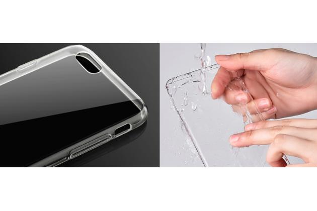 Фирменная задняя панель-чехол-накладка с защитными заглушками с защитой боковых кнопок для iPhone 7 4.7 PRODUCT RED Special Edition прозрачная