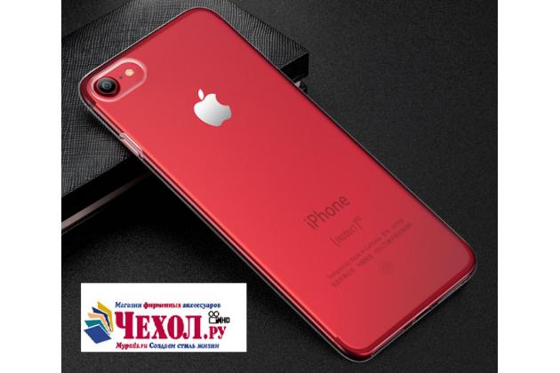 Фирменная ультра-тонкая полимерная из мягкого качественного силикона задняя панель-чехол-накладка для iPhone 7 4.7 PRODUCT RED Special Edition прозрачная