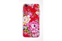 """Фирменная необычная из легчайшего и тончайшего пластика задняя панель-чехол-накладка для iPhone 7 Plus   5.5 PRODUCT RED Special Edition тематика """"Цветы"""""""