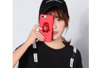 Фирменная необычная из легчайшего и тончайшего пластика задняя панель-чехол-накладка с объёмным 3D изображением Медведя для iPhone 7 Plus + 5.5 PRODUCT RED Special Edition / iPhone 8 Plus красная