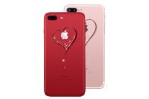 Фирменная задняя панель-чехол-накладка из прозрачного 3D  силикона с объёмным рисунком для iPhone 7 Plus   5.5 PRODUCT RED Special Edition  тематика Сердце которая огибает логотип чтобы была видна марка телефона