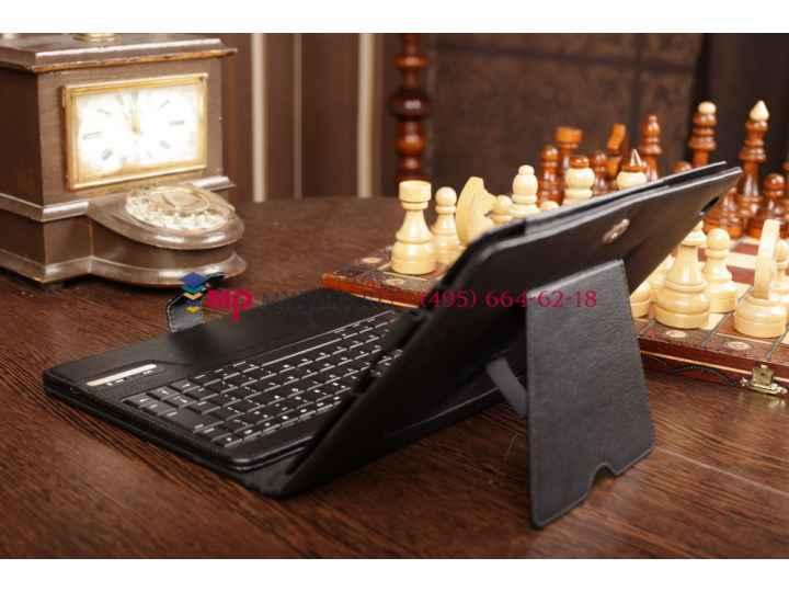 Фирменный чехол со съёмной Bluetooth-клавиатурой для Apple iPad 2/3/4 черный кожаный + гарантия..