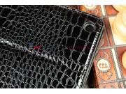 Фирменный чехол с мульти-подставкой для iPad Air 1 кожа крокодила брутальный черный..