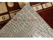 Лаковая блестящая кожа под крокодила чехол-футляр для iPad Air серый..