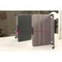 """Чехол открытого типа без рамки вокруг экрана с мульти-подставкой для iPad Mini 2 with Retina display черный кожаный """"Deluxe"""""""