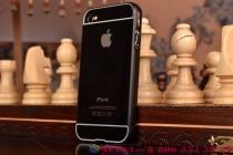Фирменная металлическая задняя панель-крышка-накладка из тончайшего облегченного авиационного алюминия для iPhone 4/4S черная