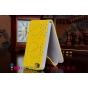 Вертикальный откидной чехол-флип для iPhone 4S желтый с блестками..