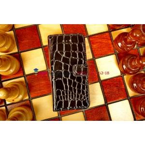 Чехол-книжка для Apple iPhone 5C черный кожаный