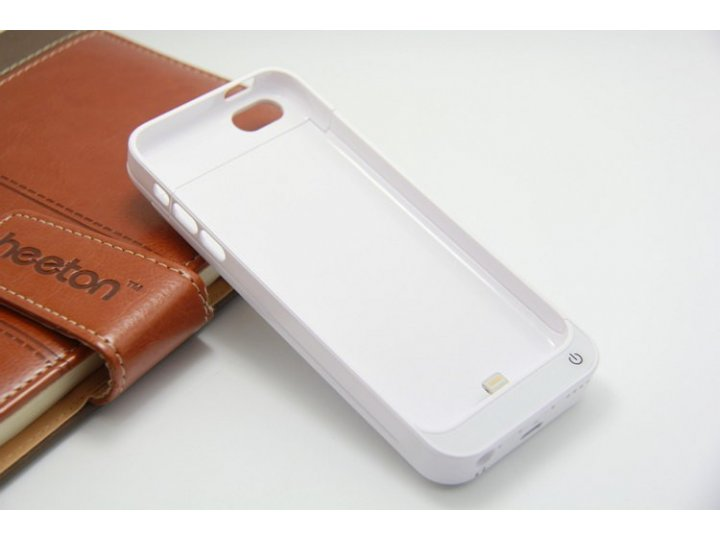 Чехол со встроенной усиленной батарей-аккумулятором большой повышенной расширенной ёмкости 2200mAh для iPhone ..