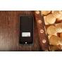 Чехол со встроенной усиленной мощной батарей-аккумулятором большой повышенной расширенной ёмкости 3500mAh для iPhone 5S черный пластиковый + гарантия