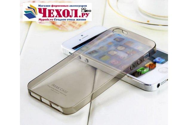 Фирменная ультра-тонкая полимерная из мягкого качественного силикона задняя панель-чехол-накладка для iPhone 5 / 5S/ SE/ 5SE черная