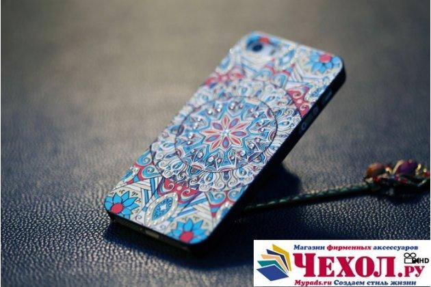 """Фирменная уникальная задняя панель-крышка-накладка из тончайшего пластика для iPhone 5 / 5S/ SE/ 5SE с объёмным 3D рисунком """"тематика Эклектические Узоры"""""""