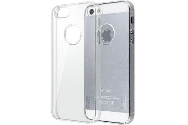 Фирменная задняя панель-крышка-накладка из тончайшего и прочного пластика для iPhone 5 / 5S/ SE/ 5SE прозрачная