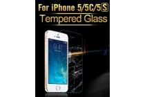 Фирменное защитное закалённое противоударное стекло премиум-класса из качественного японского материала с олеофобным покрытием для iPhone 5C/5S/SE/ 5SE