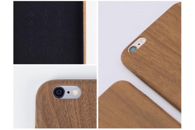 """Фирменная оригинальная деревянная из натурального бамбука задняя панель-крышка-накладка для iPhone 6+ Plus 5.5"""""""