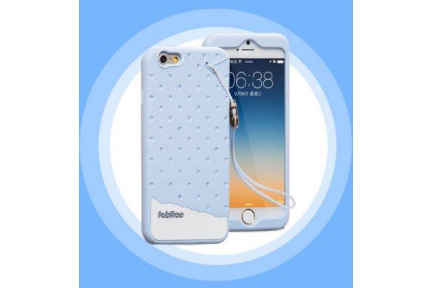 """Фирменная необычная уникальная полимерная мягкая задняя панель-чехол-накладка для iPhone 6+ Plus 5.5"""" """"тематика Андроид в черничном  Шоколаде"""""""