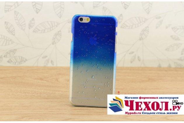 """Фирменная из тонкого и лёгкого пластика задняя панель-чехол-накладка для iPhone 6+ Plus 5.5"""" прозрачная с эффектом дождя"""