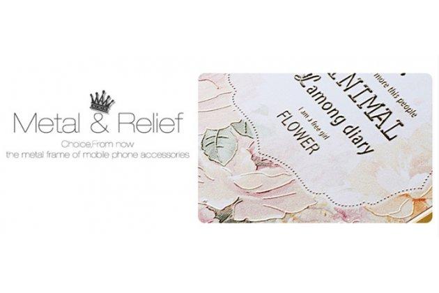 """Фирменная золотая металлическая задняя панель-крышка-накладка из тончайшего облегченного авиационного алюминия для iPhone 6+ Plus 5.5"""" с объёмным 3D рисунком """"тематика королевские Розы"""""""