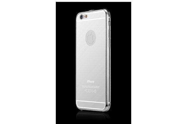 """Фирменная металлическая задняя панель-крышка-накладка из тончайшего облегченного авиационного алюминия для iPhone 6+ Plus 5.5""""  серебристая"""