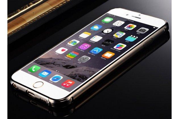 """Фирменная металлическая задняя панель-крышка-накладка из тончайшего облегченного авиационного алюминия для iPhone 6+ Plus 5.5"""" черная"""
