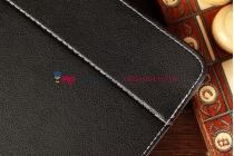 Чехол-обложка для Archos 80 XS черный кожаный