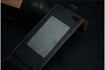 """Фирменный оригинальный вертикальный откидной чехол-флип для Ark Benefit S501  черный из натуральной кожи """"Prestige"""" Италия"""