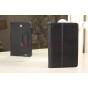 """Фирменный чехол-обложка для Asus FonePad ME371MG с визитницей и держателем для руки черный кожаный """"Prestige"""" Италия"""