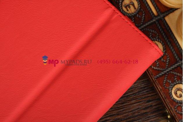 """Чехол-обложка для Asus FonePad ME371MG с визитницей и держателем для руки красный кожаный """"Prestige"""" Италия"""