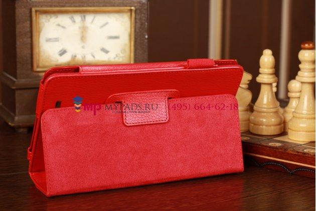 Чехол-обложка для Asus MeMo Pad 7.0 ME172V красный кожаный