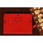 """Чехол-обложка для Asus MeMo Pad Smart ME301T/ME301TG с визитницей и держателем для руки красный кожаный """"Prestige"""""""