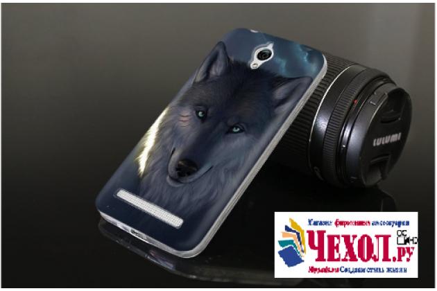 """Фирменная ультра-тонкая полимерная из мягкого качественного силикона задняя панель-чехол-накладка для Asus Zenfone Go ZC451TG 4.5 (Z00SD)  тематика """" Волк"""""""