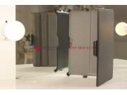Чехол для Asus Vivo Tab Smart ME400C/ME400CL с мульти-подставкой черный кожаный