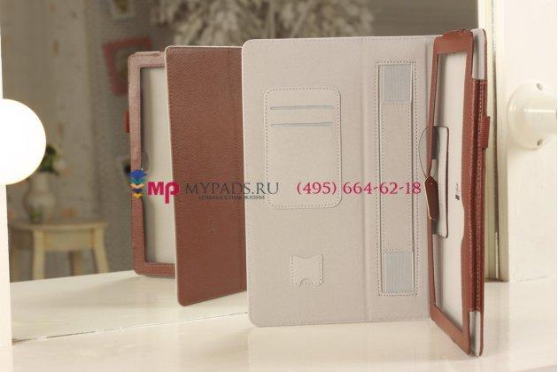"""Чехол-обложка для Asus Vivo Tab Smart ME400C/ME400CL коричневый натуральная кожа """"Prestige"""" Италия"""
