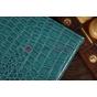Фирменный чехол-обложка для Asus VivoTab Smart ME400C/ME400CL кожа крокодила синий..