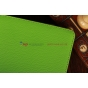 Чехол-обложка для Asus VivoTab Smart ME400C/ME400CL с визитницей и держателем для руки зеленый кожаный