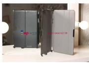 Фирменный чехол для Asus VivoTab TF810C/TF810TG черный кожаный