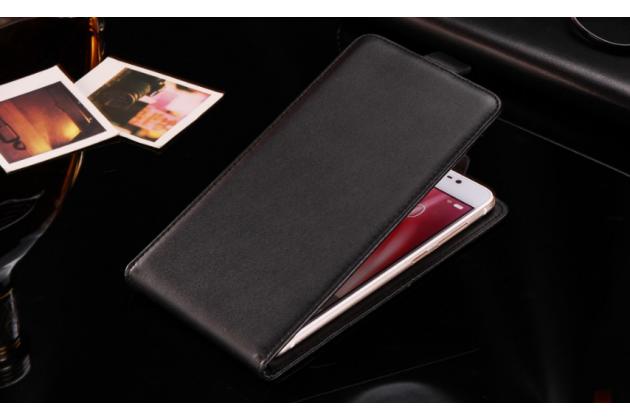"""Фирменный вертикальный откидной чехол-флип для ASUS ZenFone 3 Deluxe ZS550KL 5.5"""" черный из натуральной кожи"""