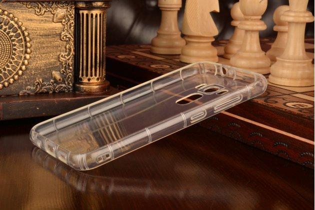 """Фирменная ультра-тонкая силиконовая задняя панель-чехол-накладка с защитой боковых кнопок для ASUS Ze0nFone 3 / Zenfone 3 Neo ZE520KL 5.2"""" серебристая"""