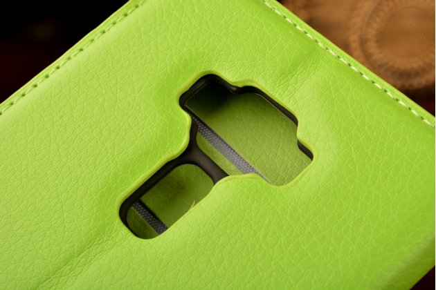 """Фирменный чехол-книжка для ASUS ZenFone 3 / Zenfone 3 Neo ZE520KL 5.2"""" с визитницей и мультиподставкой зеленый кожаный"""