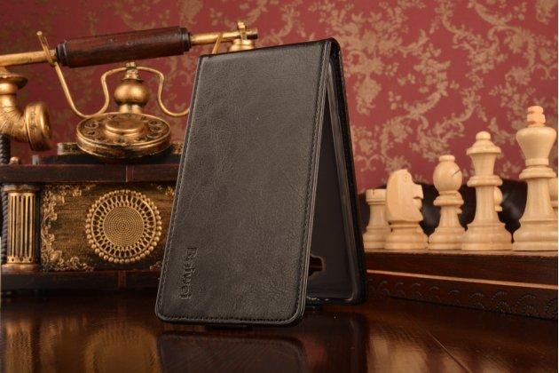 """Фирменный оригинальный вертикальный откидной чехол-флип для ASUS ZenFone 3 / Zenfone 3 Neo ZE520KL 5.2"""" черный кожаный"""
