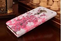 """Фирменный уникальный необычный чехол-книжка с визитницей кармашком для ASUS ZenFone 3 / Zenfone 3 Neo ZE520KL 5.2"""" """"тематика цветок вишни"""""""