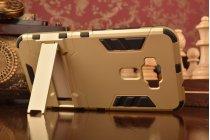 """Противоударный усиленный ударопрочный фирменный чехол-бампер-пенал для ASUS ZenFone 3 / Zenfone 3 Neo ZE520KL 5.2""""  золотой"""