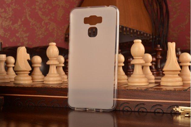 """Фирменная ультра-тонкая полимерная из мягкого качественного силикона задняя панель-чехол-накладка для ASUS ZenFone 3 Max ZC553KL 5.5"""" белая"""