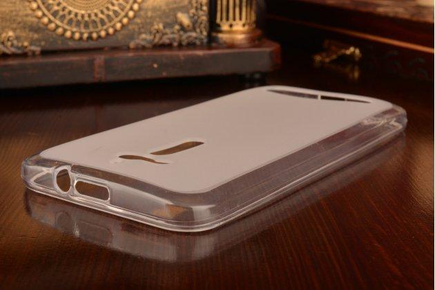 Фирменная ультра-тонкая полимерная из мягкого качественного силикона задняя панель-чехол-накладка для Asus Zenfone Go ZB500KL/ZB500KG 5.0 белая